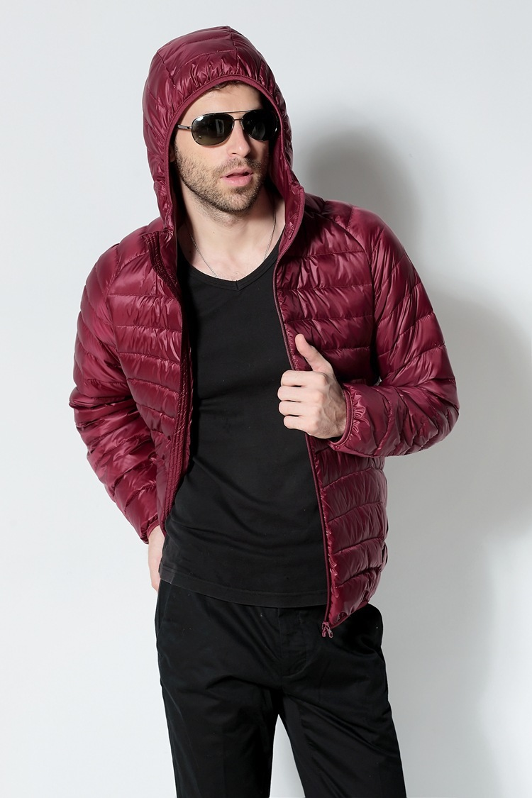 Men White Duck Down Jacket 2020 New Portable Hooded Down Coat Ultralight Men Winter Coat Warm Thermal Down Parkas 7