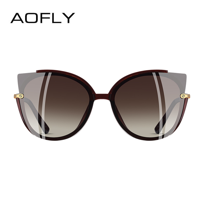 AOFLY BRAND DESIGN Fashion Lady Polarized Sunglasses Women Unique Frame Cat Eye Sun Glasses Gafas UV400 A106 2