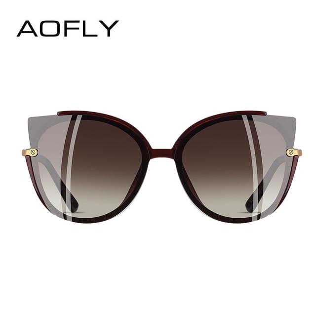 AOFLY BRAND DESIGN Fashion Lady Polarized Sunglasses Women Unique Frame Cat Eye Sun Glasses Gafas UV400 A106 2