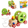 Children's puzzle  toy  kids wooden Toys  animal Trailer car  toys for baby educational learning Puzzle Toy  gift    CU65