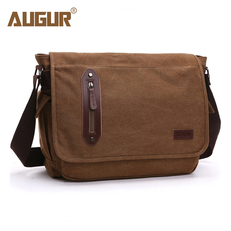 AUGUR Messenger Bag Men Canvas Crossbody Bags Big Capacity Casual Shoulder Bag For Male Female High Quality augur large capacity men women crossbody bag for pad handbags canvas shoulder bag messenger bag