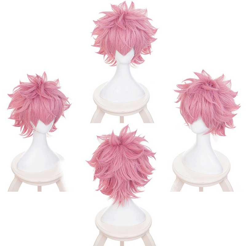 Boku no Hiro Akademia Mina Ashido короткий парик мой герой Academy Ashido Mina розовый косплей парик + парик шапка