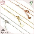 Popular And Fashionable Top Quality  Silver or Gold or Pink Gold or Rose Gold Color 925 Sterling Silver Cross Chain