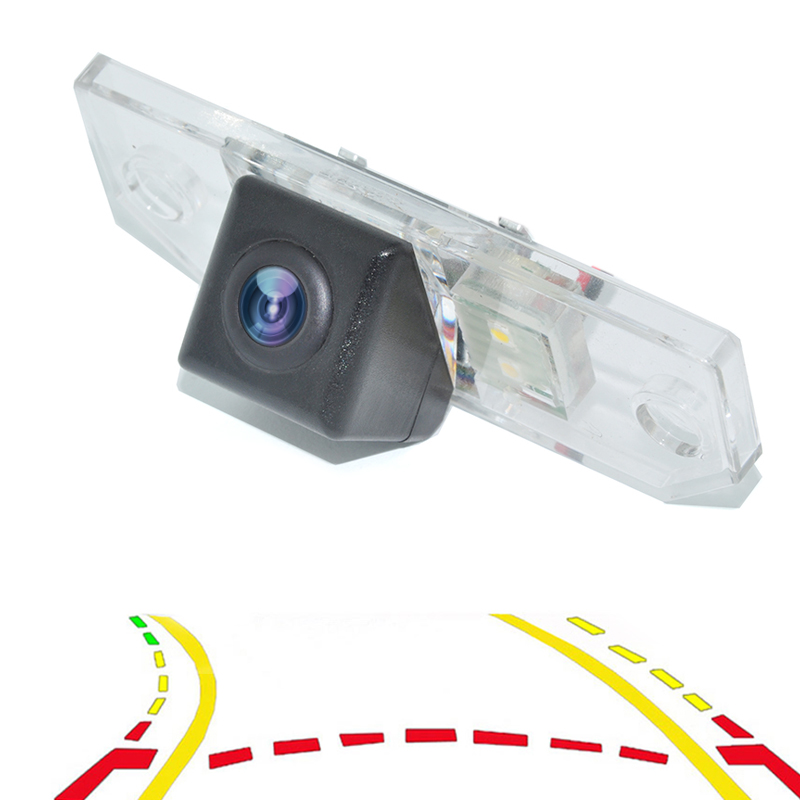 Intelligent Dynamic Trajectory Tracks Parking Line Rear View Reverse Backup Camera For Ford Sedan Focus Mondeo C-Max 2000-2010