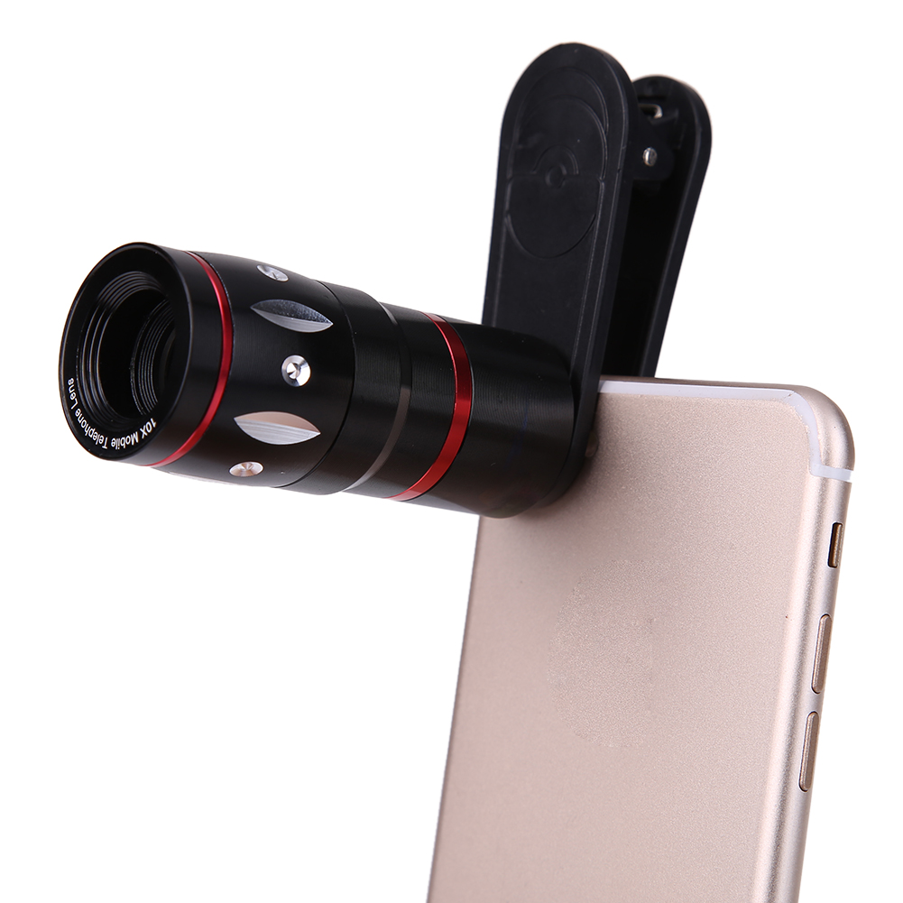 ALLOET 10xZoom Telephoto Wide Angle Mobile <font><b>Smart</b></font> <font><b>Phone</b></font> <font><b>Lens</b></font> Universal Smartphone Camera <font><b>Lenses</b></font> Upgrade Version For IPhone Xiaomi