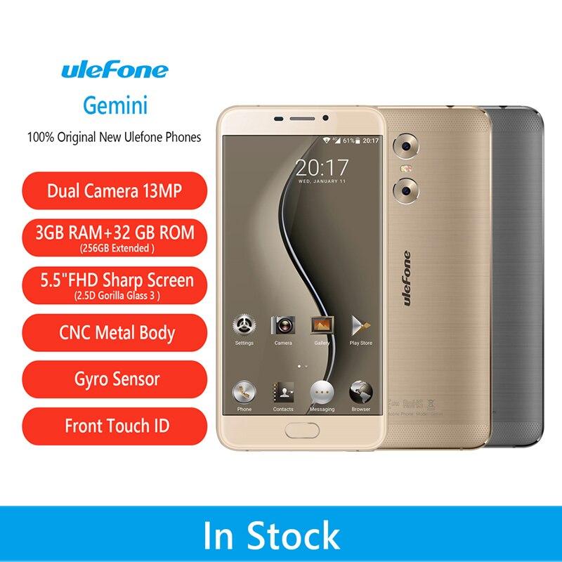 ulefone Gemini Mobile Phones MT6737T 1 5GHz Quad Core 32G ROM 3G RAM Android 6 0
