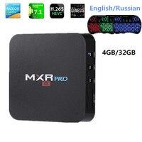 4 GB RAM 32 GB ROM MAX MXR PRO Android 7.1 Smart TV Box RK3328 Quad Core 2.4 GHz WiFi VP9 H.265 UHD MXR PRO 4 K Speler