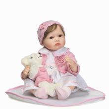 NPKCOLLECTION Reborn Baby Doll Realistic Soft silicone Reborn Babies Girl 22inches Adorable Bebe Kids Brinquedos Boneca Gift