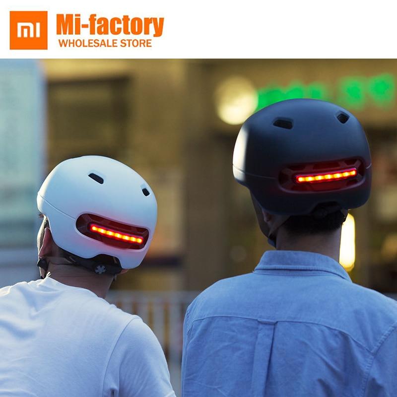 Nuevo Xiaomi Smart4u bicicleta impermeable Smart Flash cascos mate largo uso casco de montaña carretera Scooter para hombres mujeres