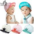 Retail 0-4 years 50CM baseball cap hats twinkle print touca baby children infant gorras head beanies bebes kids spring fall
