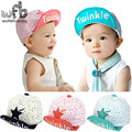 Varejo 0-4 anos 50 CM chapéus boné de beisebol brilho impressão touca gorras gorros cabeça do bebê crianças infantil bebes crianças primavera queda