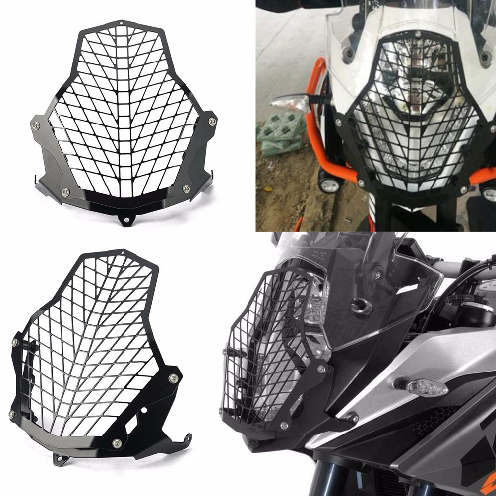 Motorcycle 1190 ADVENTURE Accessories Front Lamp Light Headlight Grill Guards Protector Cover Net For KTM 1190