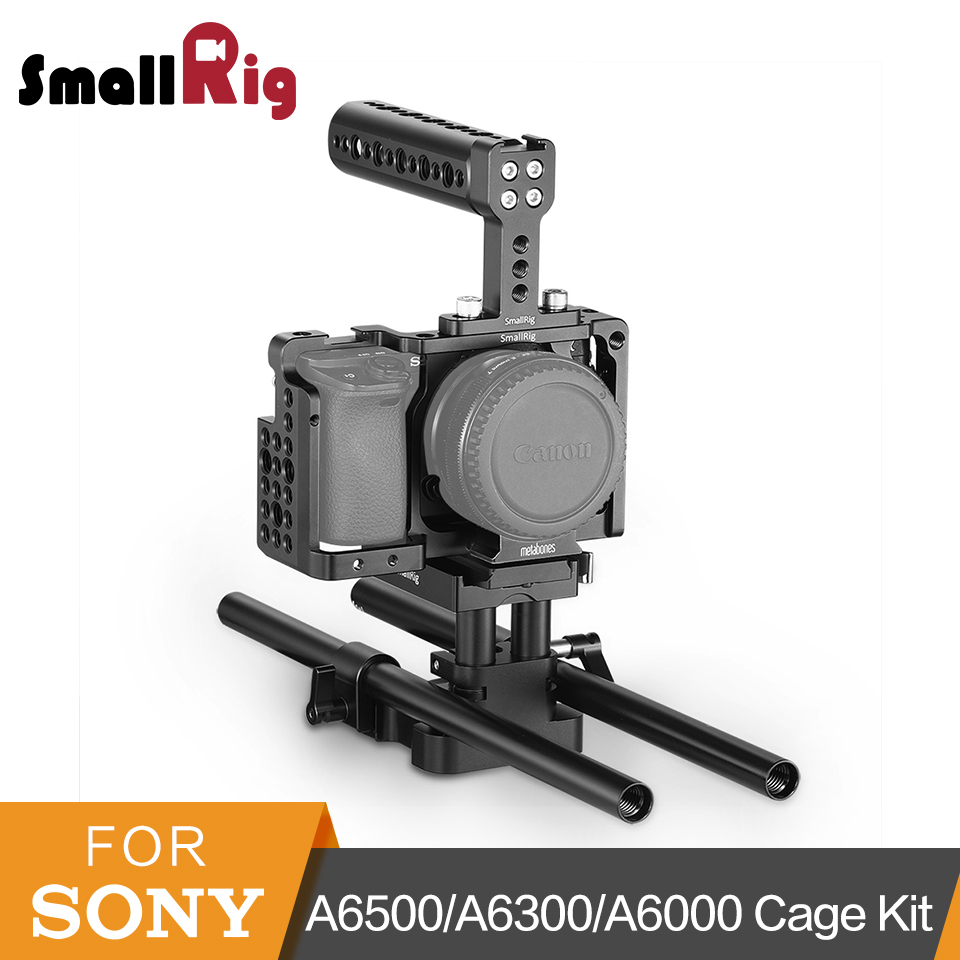 цена на SmallRig Camera Cage Kit for Sony A6500/A6300/A6000 NEX7 Cage+Top Handle+HDMI Clamp+15mm LWS Support DIY Accessories Kit - 2147
