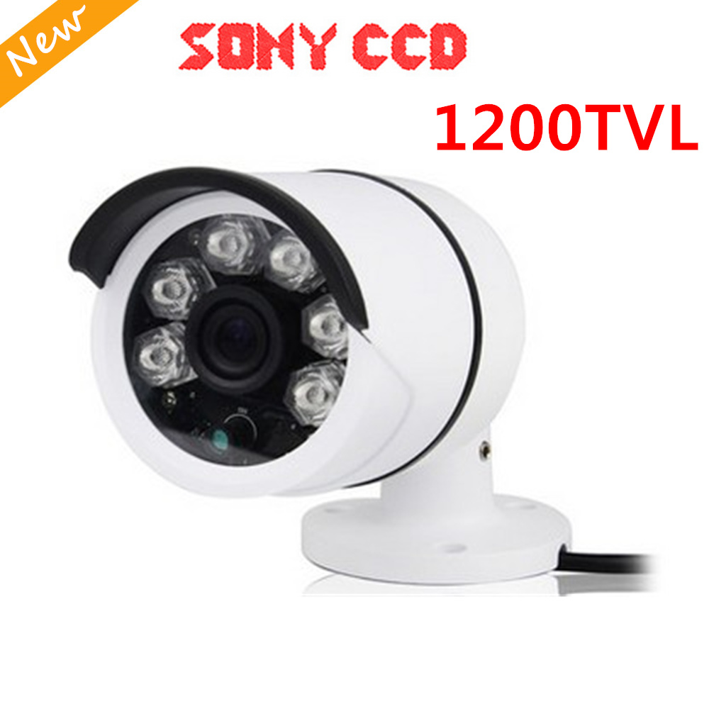 FreeShip New Video Surveillance Security CCTV IR Bullet Camera 1200 tvl 6 IR leds CCTV Camera ir-cut indoor/outdoor Sony CCD mini bullet cvbs ccd camera 700tvl with headset mount for mobile surveillance security video 5v
