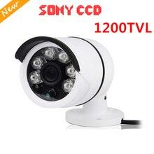 FreeShip New Video Surveillance Security CCTV IR Bullet Camera 1200 tvl 6 IR leds CCTV Camera ir-cut indoor/outdoor Sony CCD