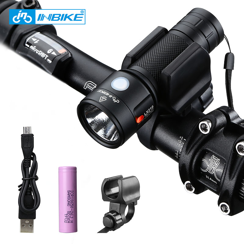 INBIKE Bike Light Sykkel Lommelykt LED Bike Front Light Sykling 950 Lumens Vanntett USB Oppladbart Headlight Sykellampe
