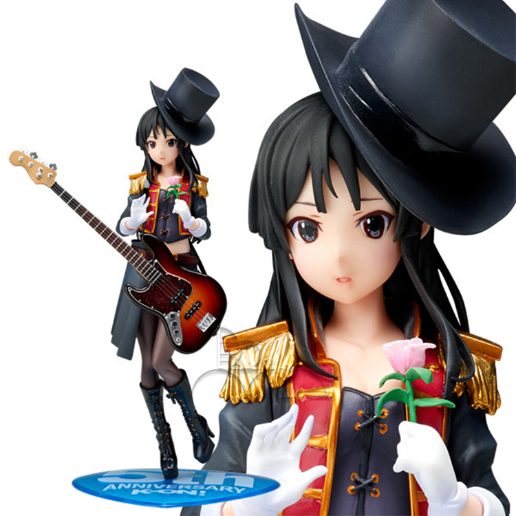 K-on 5th Anniversary Mio Akiyama 1/8 Scale PVC Figure new 1pcs 22cm pvc japanese anime figure 5th anniversary k on akiyama mio action figure collectible model toys brinquedos gc050