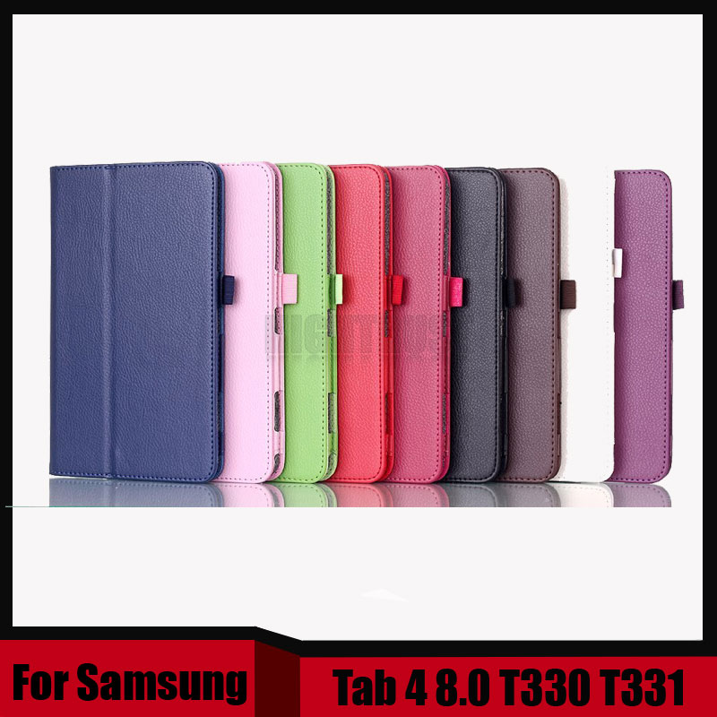 3 in 1 PU Leather Case Stand Tablet Cover Case For Samsung Galaxy Tab 4 8.0 T330 T331 + Stylus + Screen film