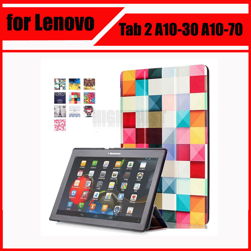 Magnetic Stand pu leather Case for Lenovo Tab 2 A10-30 A10-70 X30F A10-70F A10-70L tablet cover cases + Screen Protectors for lenovo tab 2 a7 30 2015 tablet pc protective leather stand flip case cover for lenovo a7 30 screen protector stylus pen