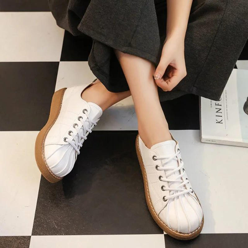 casual flat board shoes women round shell toe cross-tied flats women student single shoes ladies brand espadrilles shoes 2019