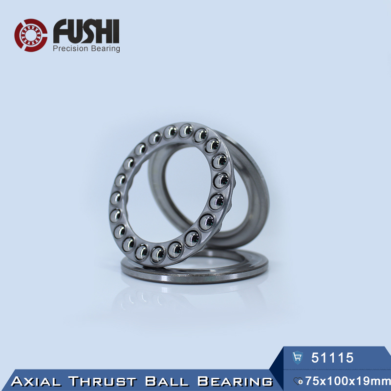 51115 Thrust Bearing 75*100*19 mm ( 1 PC ) ABEC-1 Axial 51115 Ball Bearings 8115 цена