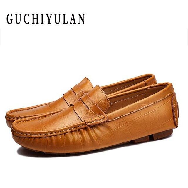 Mùa xuân Giày Người Đàn Ông Giày Da Đanh Mềm Chất Lượng Cao Chính Hãng Giày Da Nam Căn Hộ Lái Xe Giày Lớn Size47 người đàn ông