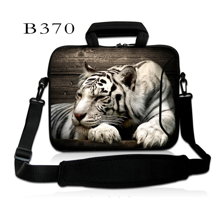 Cool White Tiger 10 Laptop Shoulder Bag Case For 9.7 ipad Air ipad Pro 10 GALAXY Tab S/ASUS Transformer Book T100/T100TA