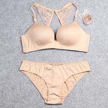 Seamless Bra Set with Lace Butterfly