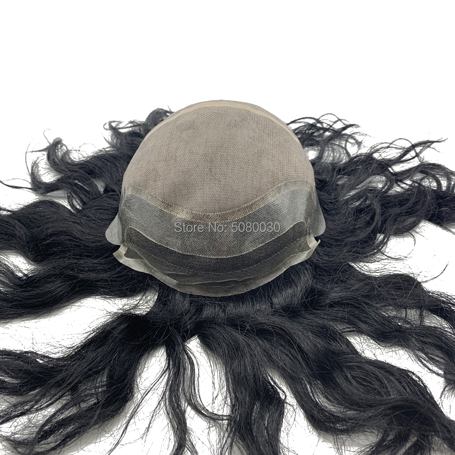 Custom Made Full Cap Toupee Men Hair Wig Mono Wigs Free Shipping