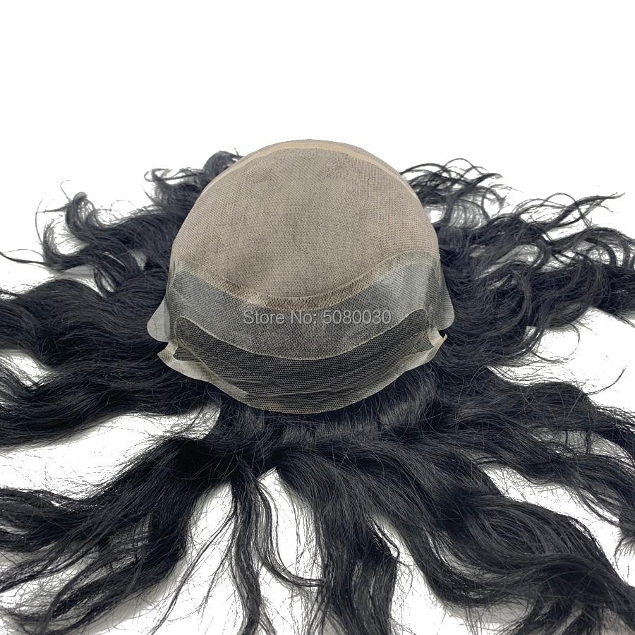 Custom Made Full Cap Toupee Men Hair Wig Mono Wigs Free Shipping