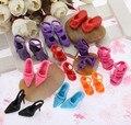 1/6 куклы разноцветный стили обувь Packs обувь для 30 см девочка куклы высокая туфли на высоком каблуке сандалии тапочки обувь мешок 100 pairs/lot