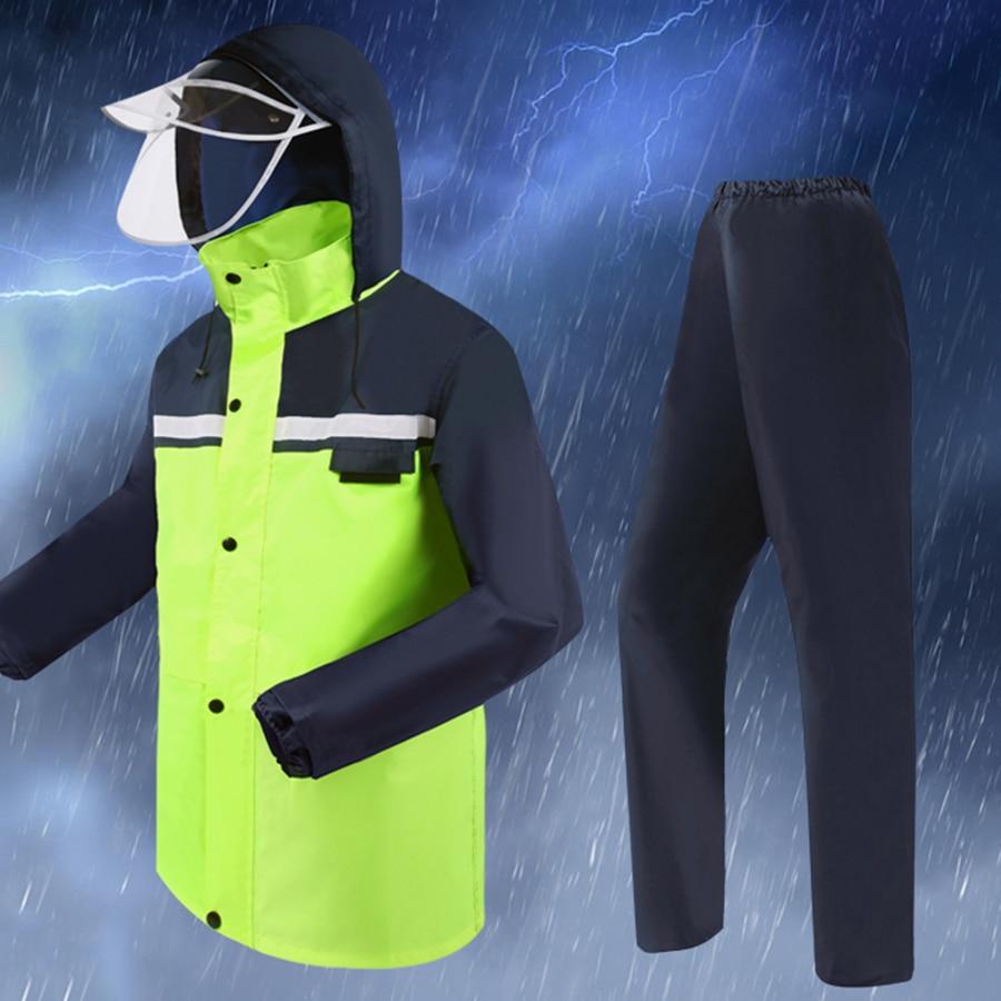 Imperméable vert femmes Camping extérieur imperméable à l'eau imperméable hommes moto vélo Poncho hommes Abrigos Hombre pantalon costume de pluie Z797