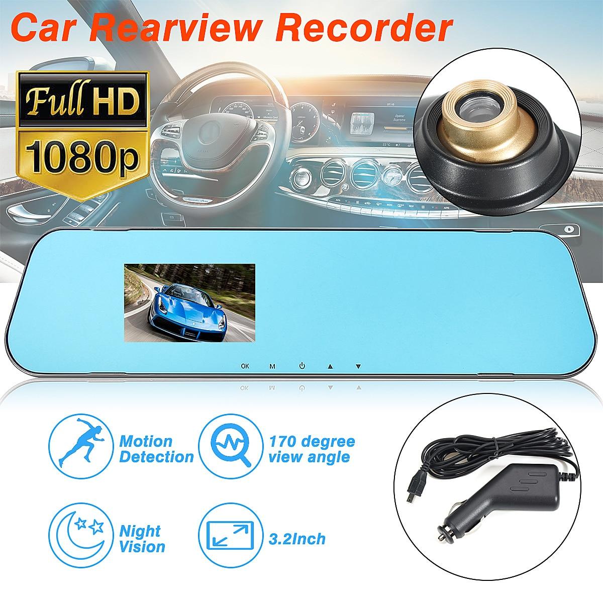 3.2 inch 1080P HD Car Dash Camera Rear Car DVR dash cam Camera Night Vision Lens Video Recorder Cam
