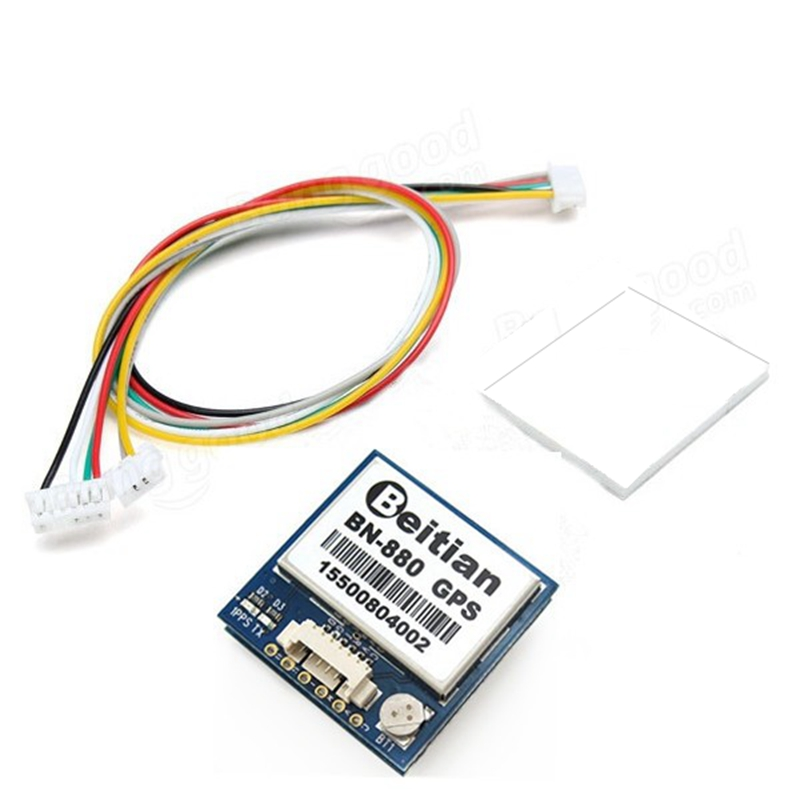 1PCS <font><b>Beitian</b></font> <font><b>BN</b></font>-<font><b>880</b></font> Flight Control GPS Module Dual Module for FPV Racing Drone RC Quadcopter Multicopter RC Parts w/ Cable image