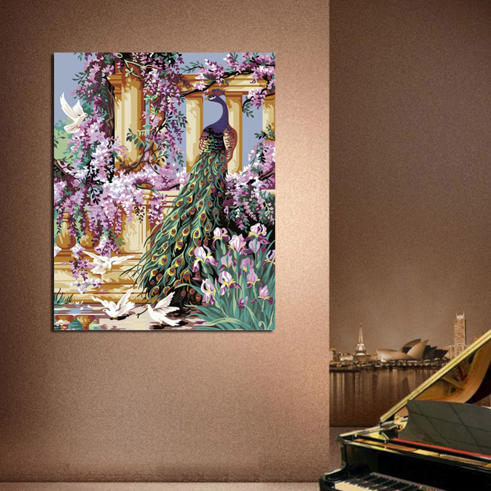 Diyの孔雀油絵by数字quadri da - 室内装飾 - 写真 2