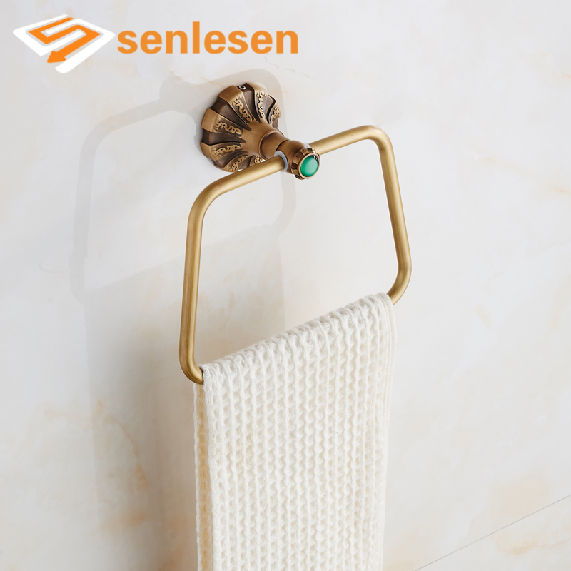 Free Shipping Bathroom Towel Ring Holder Antique Brass Bath Towel Rack compatible laser printer chip reset for dell 3130 toner cartridge chip