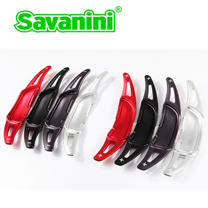 Image 2 - Savanini palas de cambio de marchas para volante de coche, de aluminio, extensión para Benz New AMG G63 C63 S63 GLA45 2013 2019