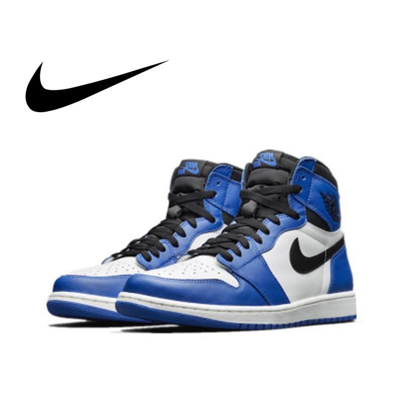 la moitié 47217 23711 US $118.75 33% OFF Original Authentic Nike Air Jordan 1 Retro High OG AJ1  Men's Basketball Shoes Sneakers Athletic Designer 2018 New 555088 403-in ...