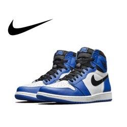 Original Authentic Nike Air Jordan 1 Retro High OG AJ1 Men's Basketball Shoes Sneakers Athletic Designer 2018 New 555088-403