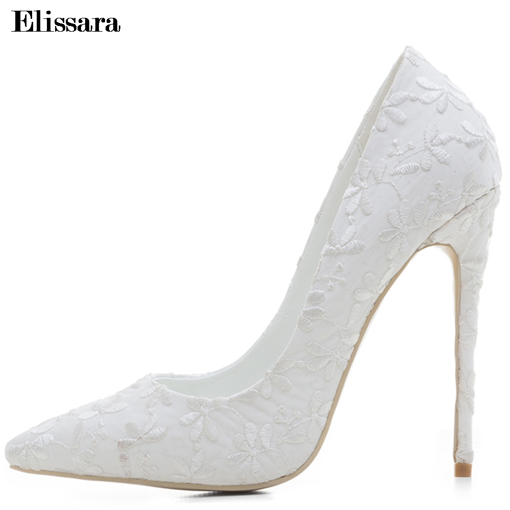 White Women s Wedding Bridal Bride Shoes for Woman Stilettos High Heels  Sexy High-Heeled Party e9a2b0d659d2
