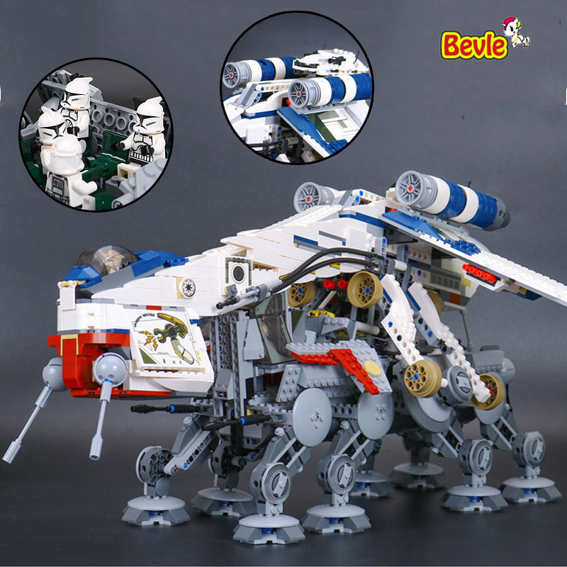 ФОТО LEPIN 05053 Genuine Star Wars Series The Republic Dropship Model Building Kit Block 1788Pcs Bricks Compatible With Lepind 10195
