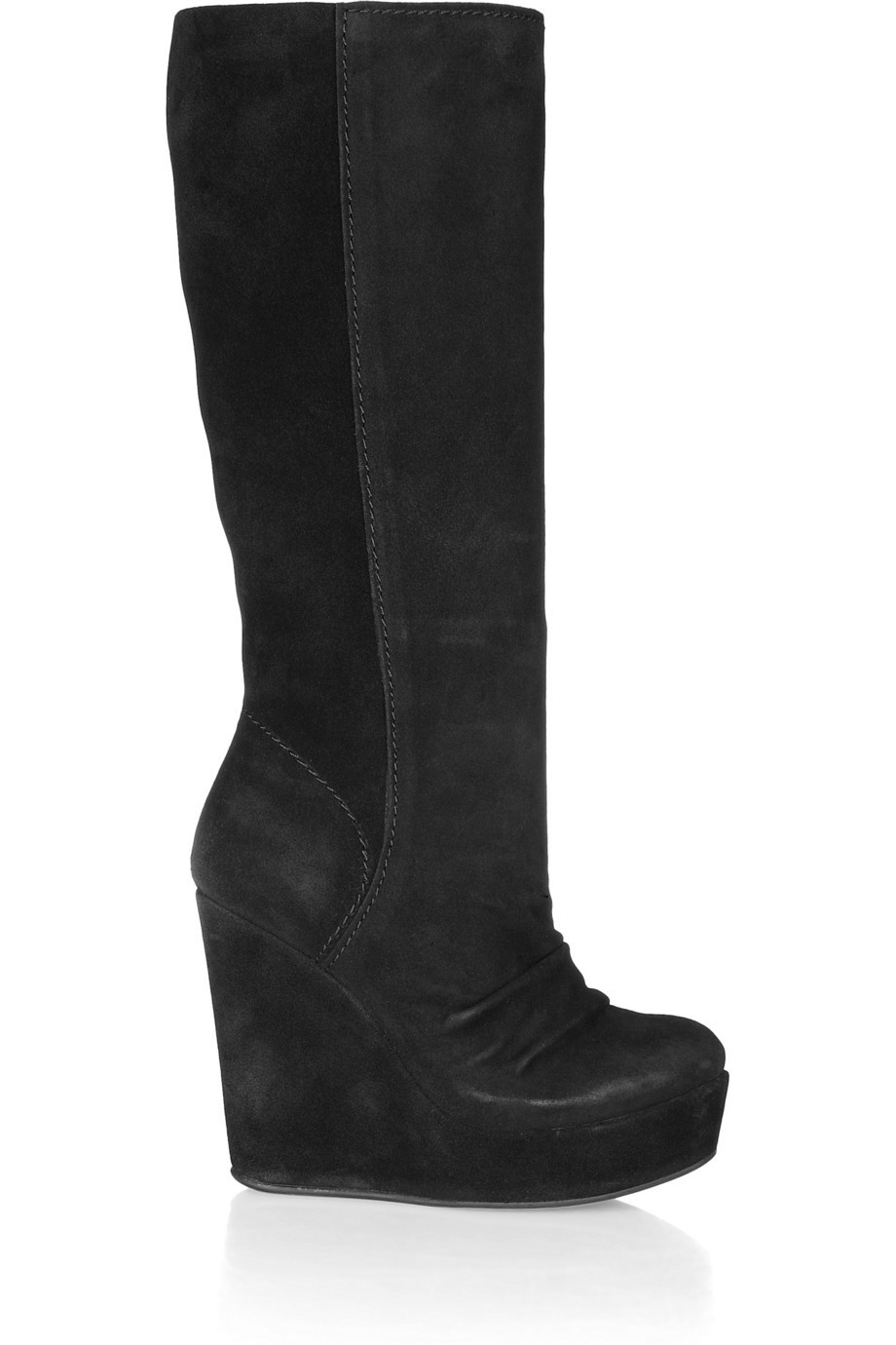 Compare Prices on Black Wedge Boots Knee High- Online Shopping/Buy ...