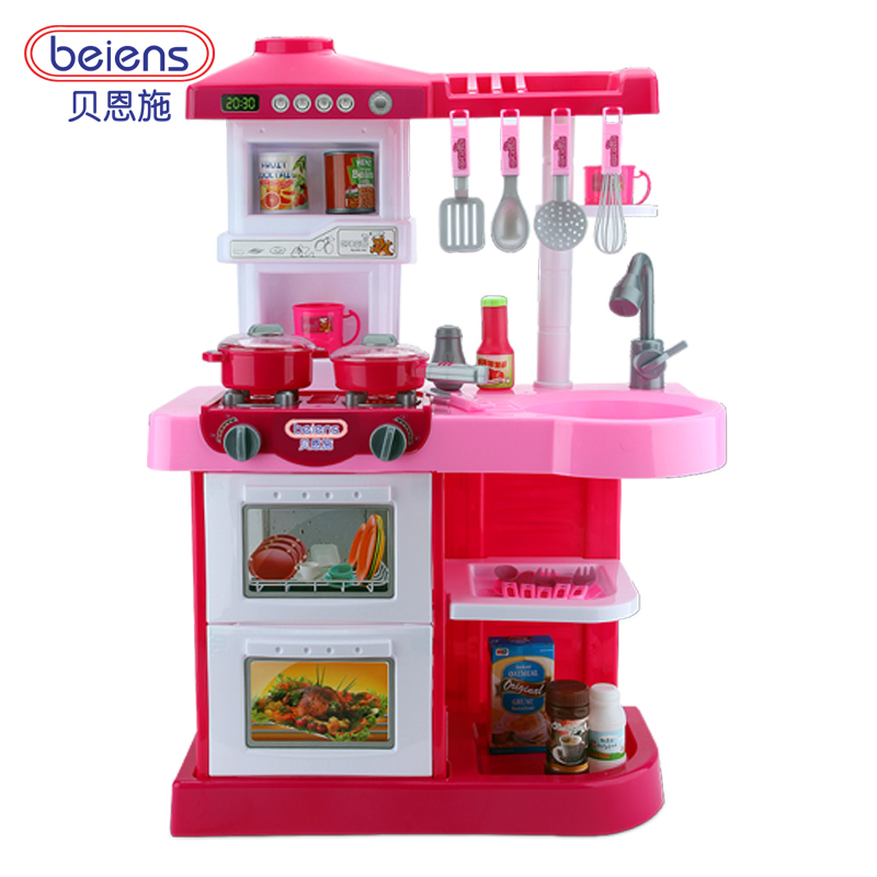 Beiens Kitchen Toys Plastic Kids Cooking Toy Educational Children Play Set  With Faucet Big Size Pretend Play Tableware Sale  In Kitchen Toys From Toys  ...