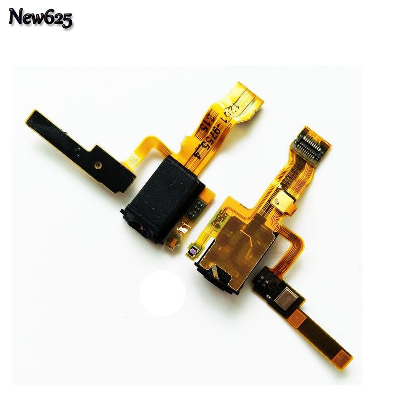 Original For Sony Xperia ZL L35h C6503 C6502 C6506 Headphone Jack Audio Earphone Flex Ribbon Cable Replacement