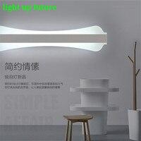 Творческий Акрил Алюминий Зеркало LED свет бра для Ванная комната проход Гостиная Водонепроницаемый анти туман зеркало Лампы для мотоциклов