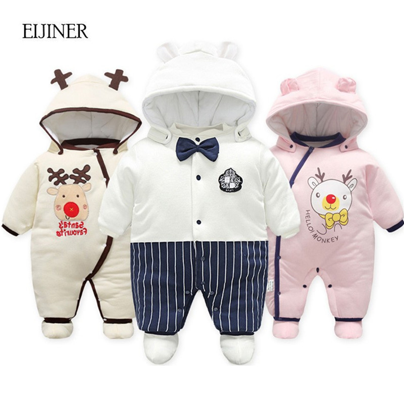 Baby Rompers Winter Overalls Thick Warm Kids Jumpsuit 2017 Newborn Clothes Infant Boys Girls Outwear Baby Boy Girl Romper baby rompers baby winter coveralls infant boy girl fleece romper ropa nena invierno knitted stripe jumpsuit bebe newborn outwear