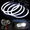 New Car CCFL LED Angel Eye Faros LED Chip de Coches Luz blanco Amarillo 6000 K Auto Faro Para BMW Serie 3 E46 Sedan