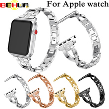 цена на Watch Strap For Apple Watch Band 38mm 42mm Wrist band for iwatch Serise 3 2 Link bracelet Replacement Watchband with Rhinestone