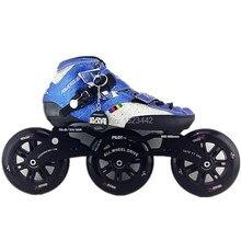 speed skating shoes powerslide inline skating shoes speed skates balck red color 120mm inline skating Large wheels