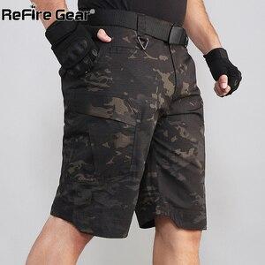 Image 3 - Refire engrenagem camo exército tático dos homens calças curtas combate militar multi bolso carga shorts soldado verão à prova dwaterproof água trabalho shorts